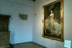 Portrét Márie Terézie od Franza Antona Palka vystavuje SNG na Zvolenskom zámku.