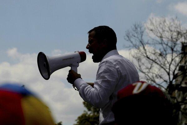 Opozičný líder Venezuely Juan Guaidó.