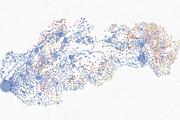 Výsledky prezidentských volieb 2019 - volebná mapa výsledkov podľa obcí.