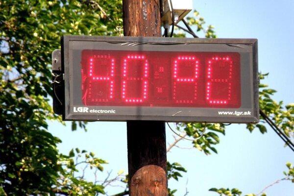 Štyridsať stupňov na slnku už o deviatej dopoludnia.