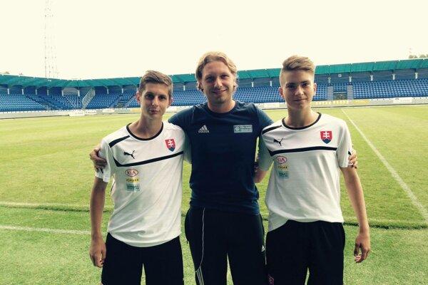 Adam Brenkus (vpravo) bol súčasťou reprezentácie od U16 do U19.