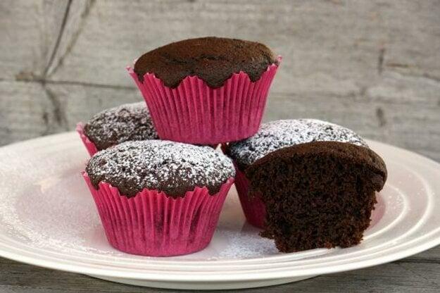 Čokoládové muffiny s cviklou