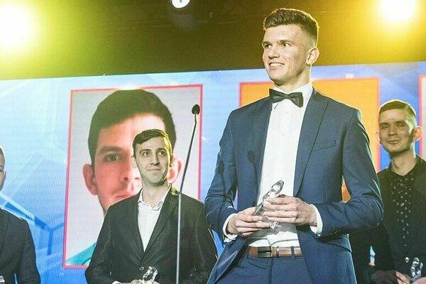 Denis Janček s trofejou.