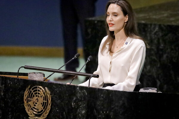 Angelina Jolieová na pôde OSN.