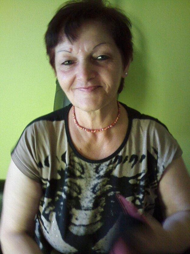 60- ročná Eva Martišová z Bánoviec nad Bebravou.