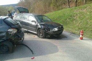 Dopravná nehoda pri Udiči.