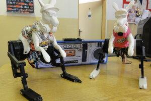 Robotickí klokani Roger a Lujzinka.