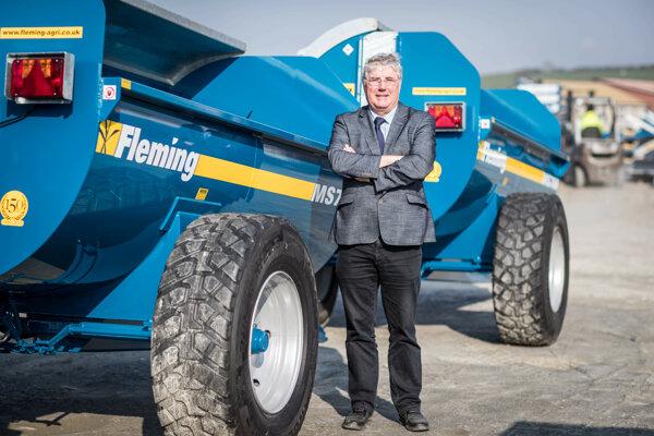 Newbuildings, Severné Írsko. Majiteľ spoločnosti Fleming Agri Products Ltd George Fleming.