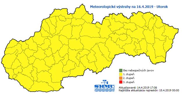 Predpoveď na utorok. Mrazy sa očakávajú na celom území Slovenska