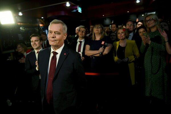 Na prvom mieste skončila opozičná Sociálnodemokratická strana Fínska pod vedením Anttiho Rinnea.
