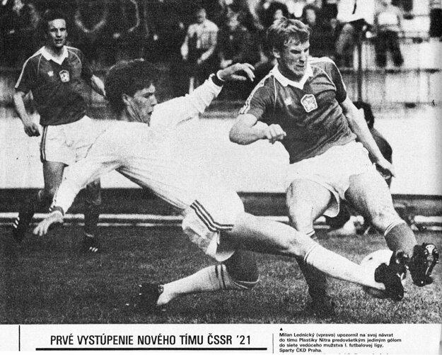 Lednický hrával aj za reprezentáciu ČSSR do 21 rokov.