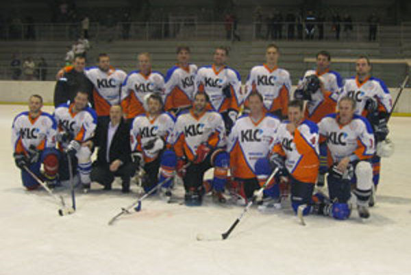 Hokejisti KLC Lučenec.