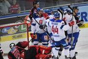 Momentka zo zápasu Rakúsko - Slovensko v príprave na MS v hokeji 2019.