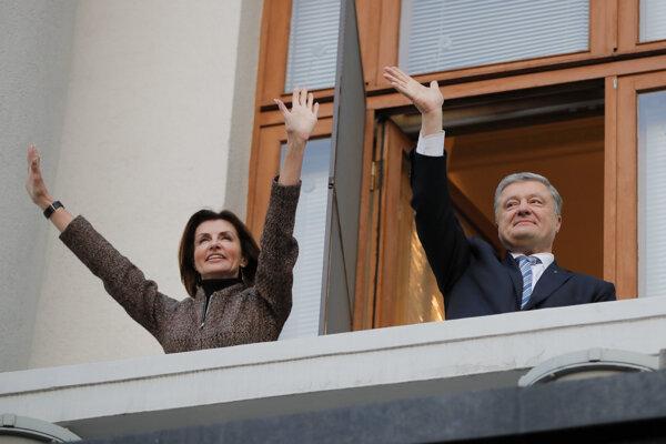Petro Porošenko s manželkou Marynou.