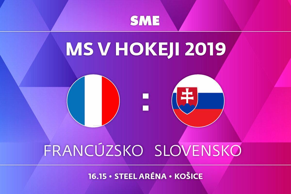 094a500ef6d31 Slovensko : Francúzsko - MS hokej 2019 - ONLINE - LIVE - Šport SME