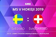 Švédsko - Švajčiarsko, zápas MS v hokeji 2019, skupina B. Sledujte online prenos na SME.sk.