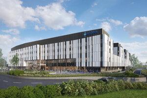 Vizualizácia novej nemocnice Penty na bratislavských Boroch.