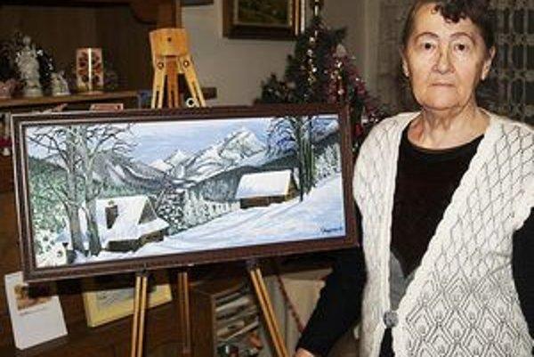 Cecília Nagyová pri maľovaní relaxuje.