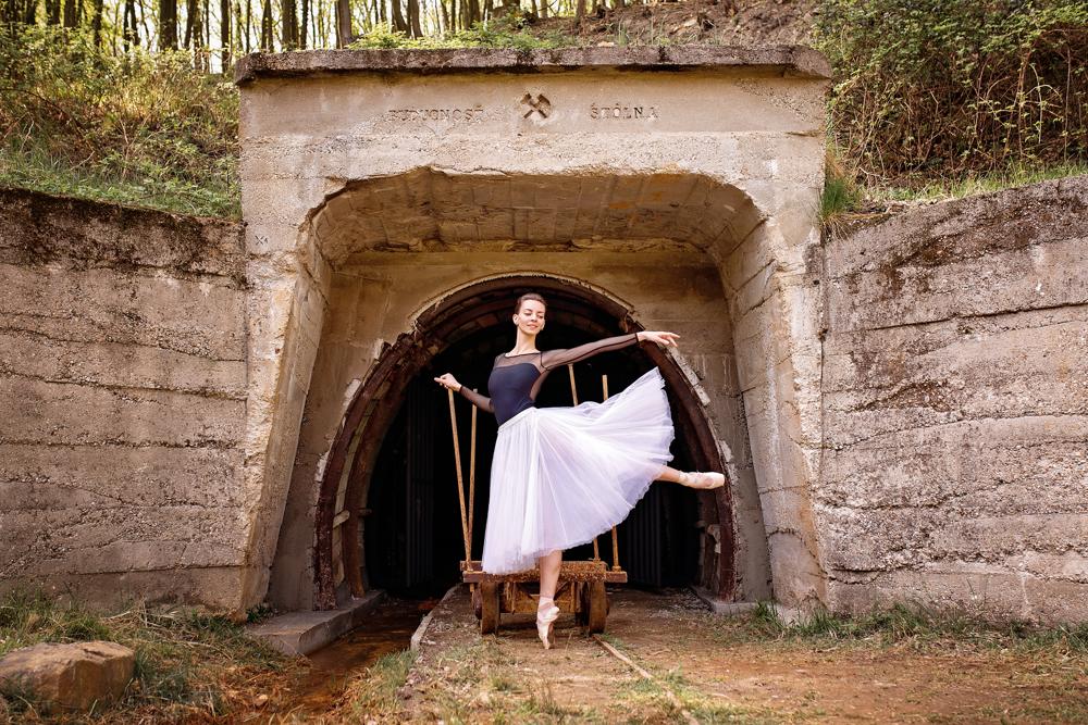 Na fotografii Victoria Zinovieva, ruská baletka, ktorá pôsobí v balete SND.