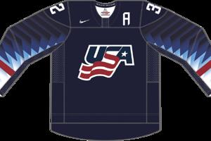 Dres Spojených štátov amerických určený pre zápasy, v ktorých sú napísané ako hosťujúci tím.