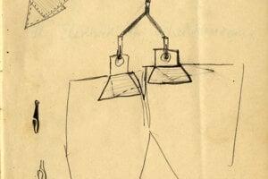 V zápisníku sa nachádza aj kresba trakov.