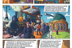 Detail z pripravovaného komiksu.