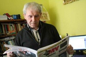 Spisovateľ, publicista, pedagóg Ladislav Hrubý číta MY Kysucké noviny pravidelne.