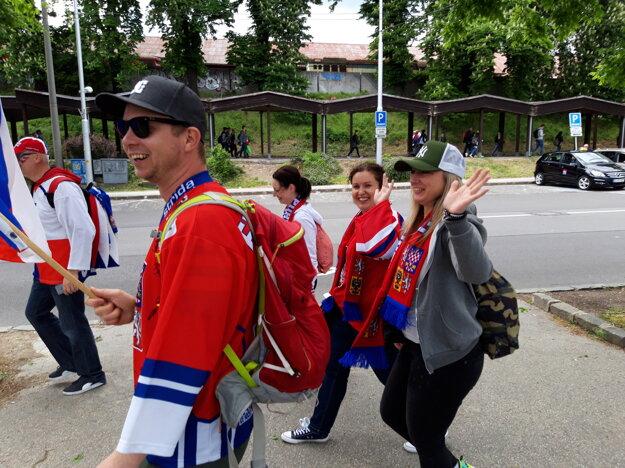 Do Bratislavy prišlo veľa fanúšikov z Česka.
