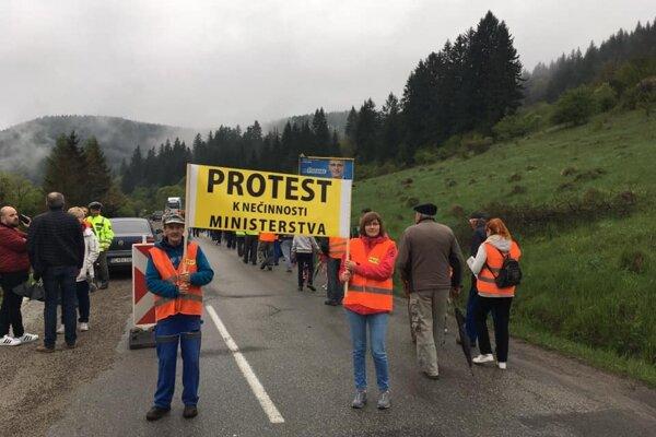 Protest v Turčeku.