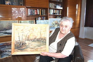 Magdaléna Jančkárová z Trebeľoviec namaľovala svoj prvý obraz ako 43-ročná.