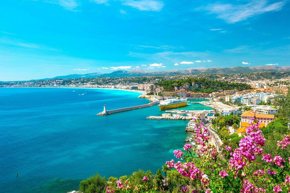 Azúrové pobrežie, Francúzsko.
