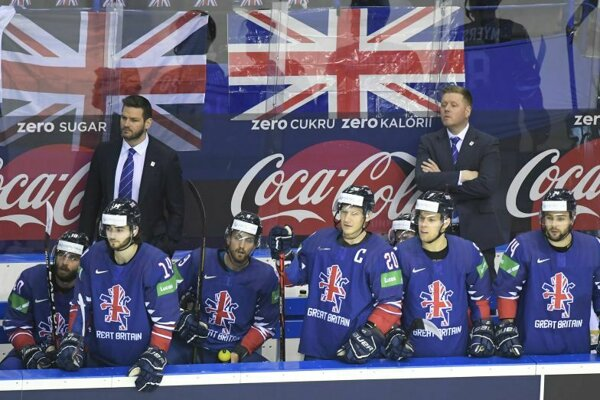 Lavička Veľkej Británie na MS V hokeji 2019.