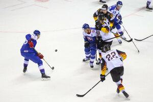 Súboje v zápase Nemecko - Slovensko na MS v hokeji 2019.
