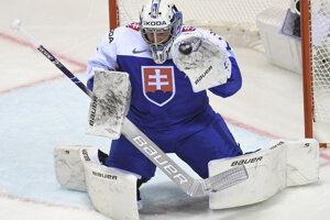 Marek Čiliak v zápase Nemecko - Slovensko na MS v hokeji 2019.