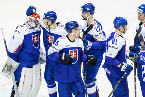 Slovenskí hokejisti - ilustračná fotografia.