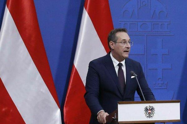 Rakúsky vicekancelár a predseda pravicovo-populistickej Slobodnej strany Rakúska (FPÖ) Heinz-Christian Strache