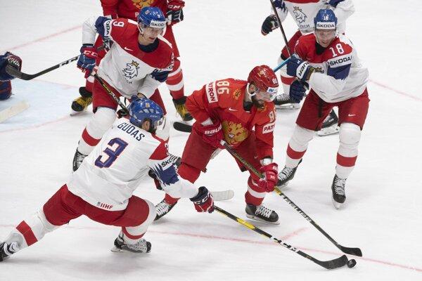 Nikita Kučerov v zápase s Českom. Rusi vyhrali hladko 3:0.