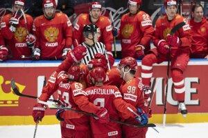 Rusko počas MS v hokeji 2019.