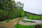Intenzívny dážď robí šarapatu aj v obci Skalité, situácia tam už majú pod kontrolou.