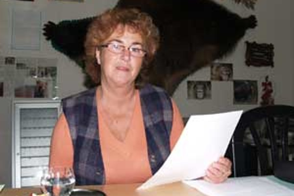 Mária Švikruhová, starostka Cinobane.