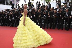 Modelka Fernanda Liz pózuje fotografom počas príchodu na premiéru filmu  Oh Mercy