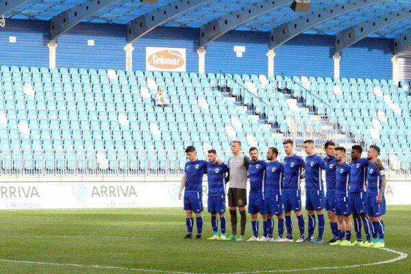 Návštevnosť na zápasoch FC Nitra v skupine o umiestnenie bola veľmi nízka.