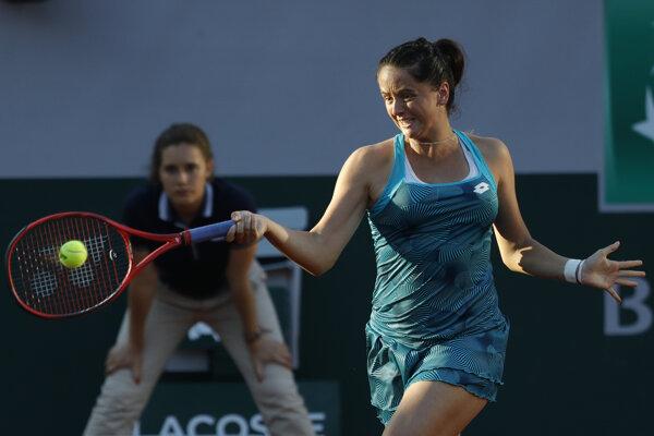 Viktória Kužmová v 3. kole dvojhry na grandslamovom turnaji Roland Garros 2019.