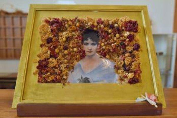 Na snímke obraz grófky Márie Henriety Chotekovej vystavený počas XII. ročníka podujatia Slávnosť ruží 2019