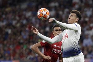 Dele Alli vo finále Ligy majstrov 2018/2019 Liverpool - Tottenham.