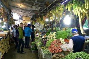 Trhy v Nuwara Eliya.