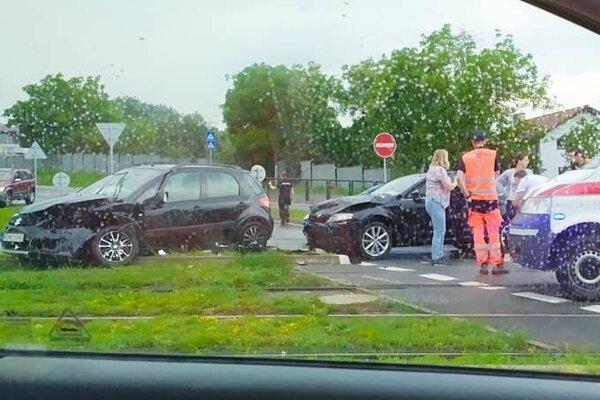 Momentka z miesta nehody.