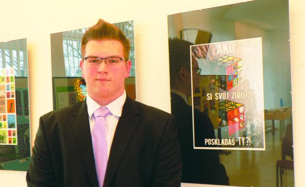 Marián Balko a jeho víťazný plagát.