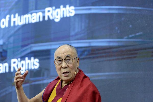 Dalajláma na konferencii OSN v Ženeve.