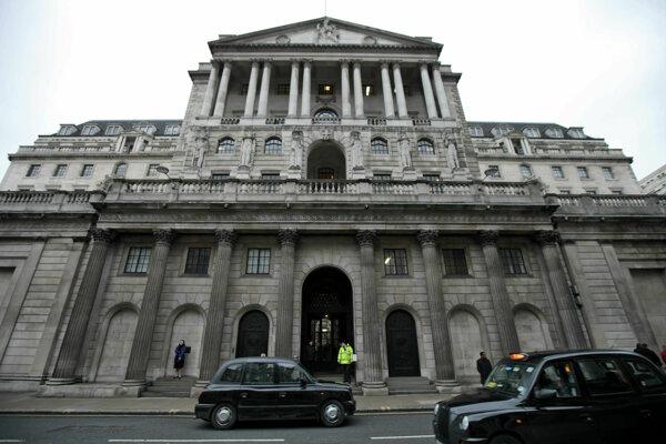 Britská centrálna banka.